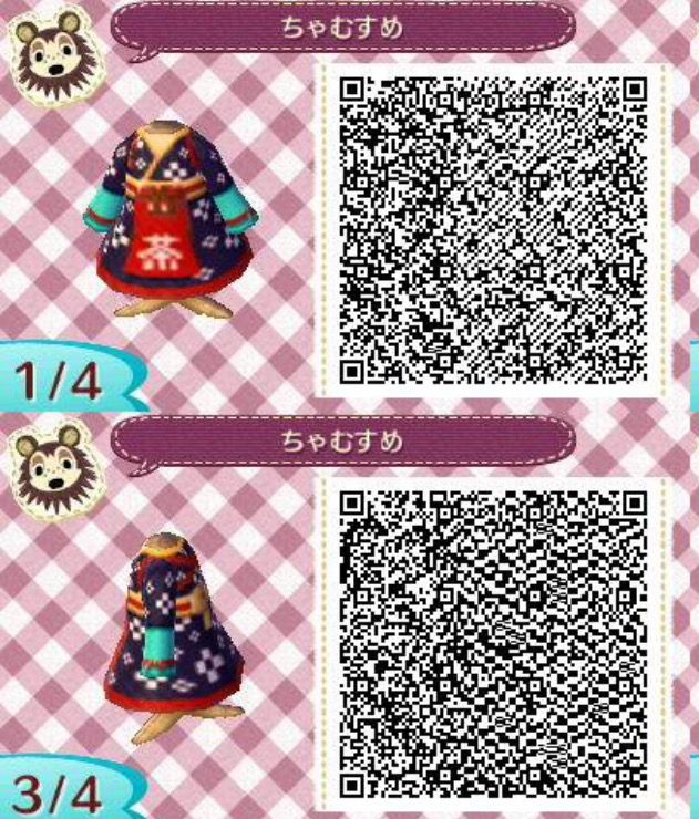 Kimono V4 Qr Codes Animal Crossing Animal Crossing Qr Codes