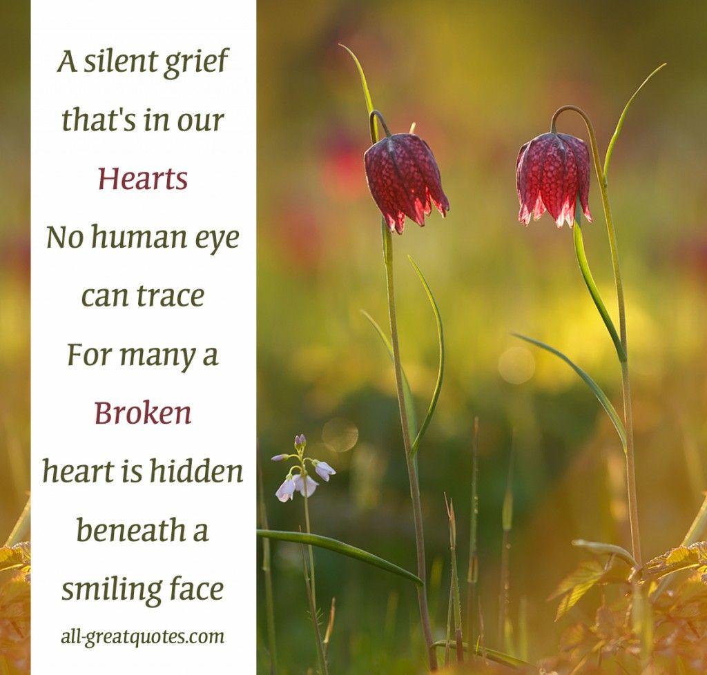Many a broken heart hidden sympathy card messages grief
