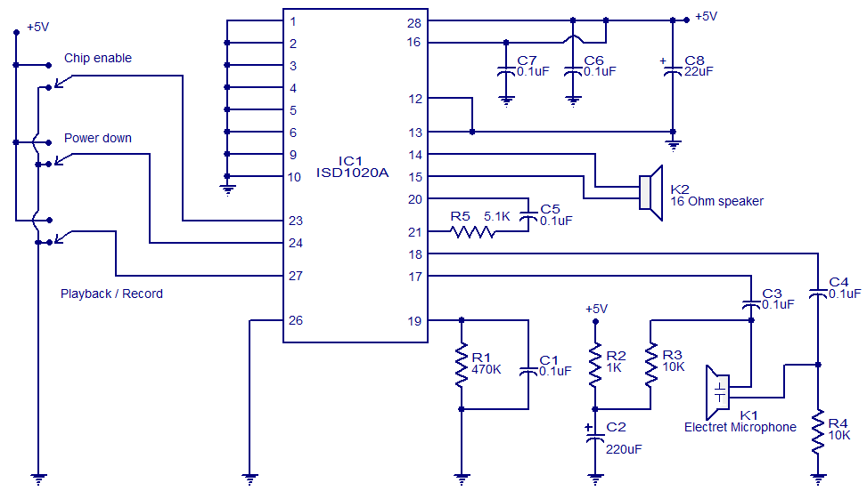 voice recorder playback circuit diagram electronic circuits invoice recorder playback circuit diagram