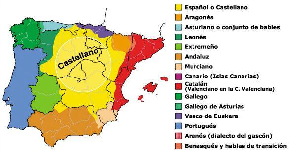 Dialectos De España Mapa.Cuantas Lenguas Y Dialectos Hay En Espana Lengua Espana