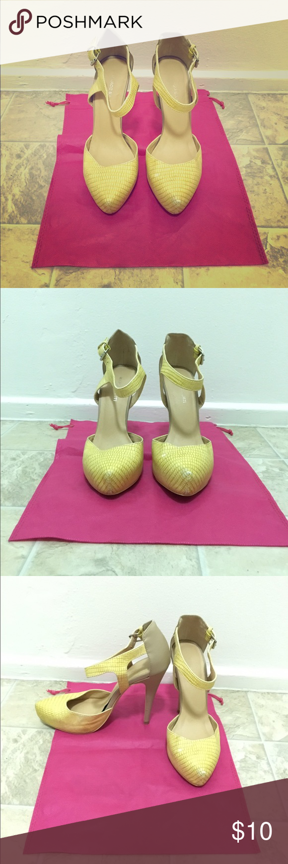 Marco santi Marco santi yellow pumps. Great pop of color with cute outfit. Marco Santi Shoes Heels