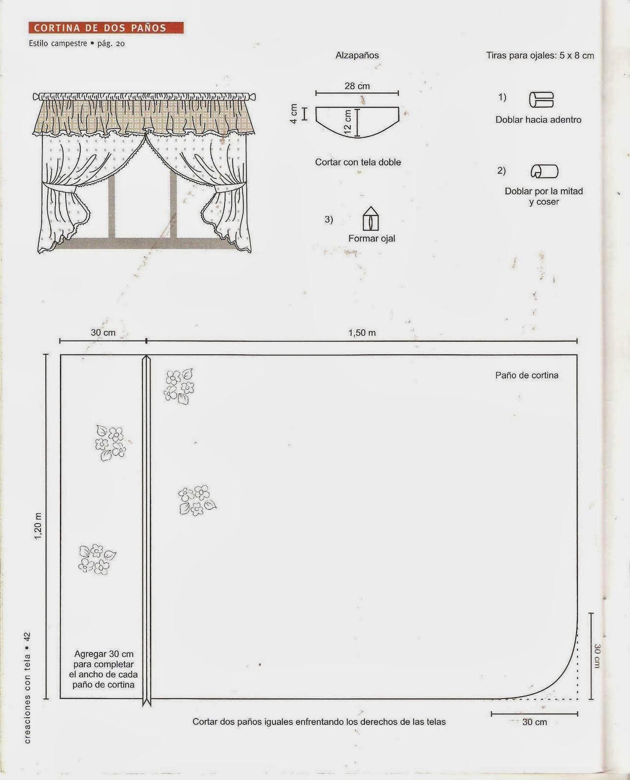 Como hacer cortinas | cenefas y cortinas | Pinterest | Hacer ...