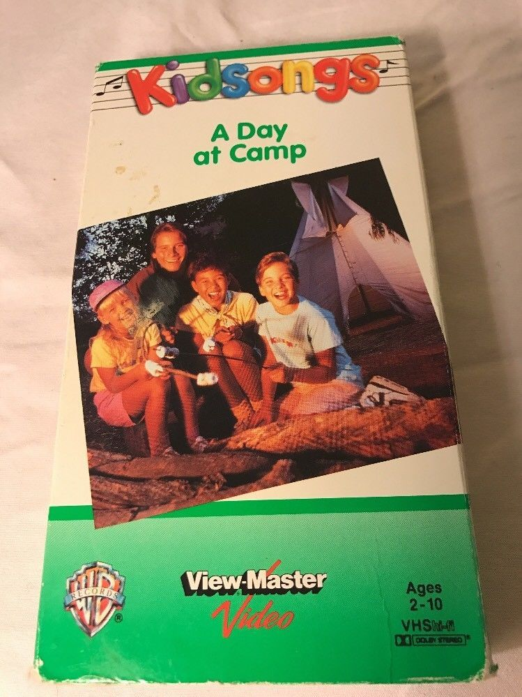 Kidsongs A Day at Camp kids songs on vhs tape paper case rare hard ...