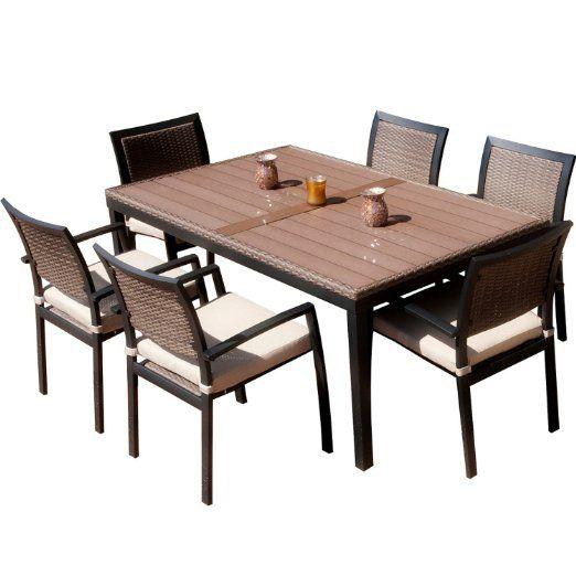 Amazon Com Rst Outdoor Op Alts7 Zen Dining Set Patio Furniture 7