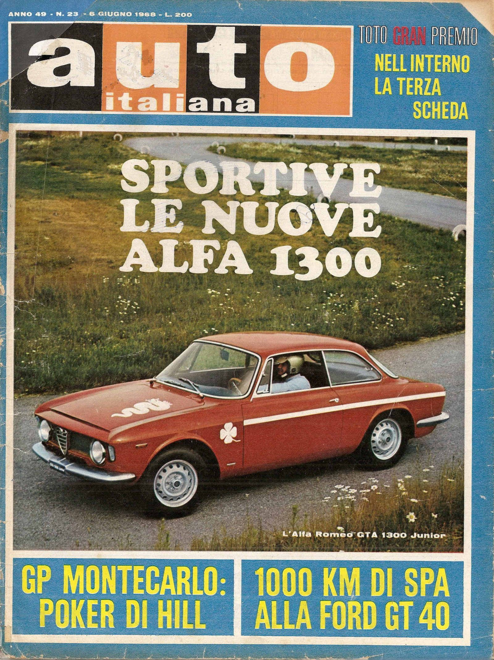 1968 #AlfaRomeo Giulia GTA review on italian car magazine \
