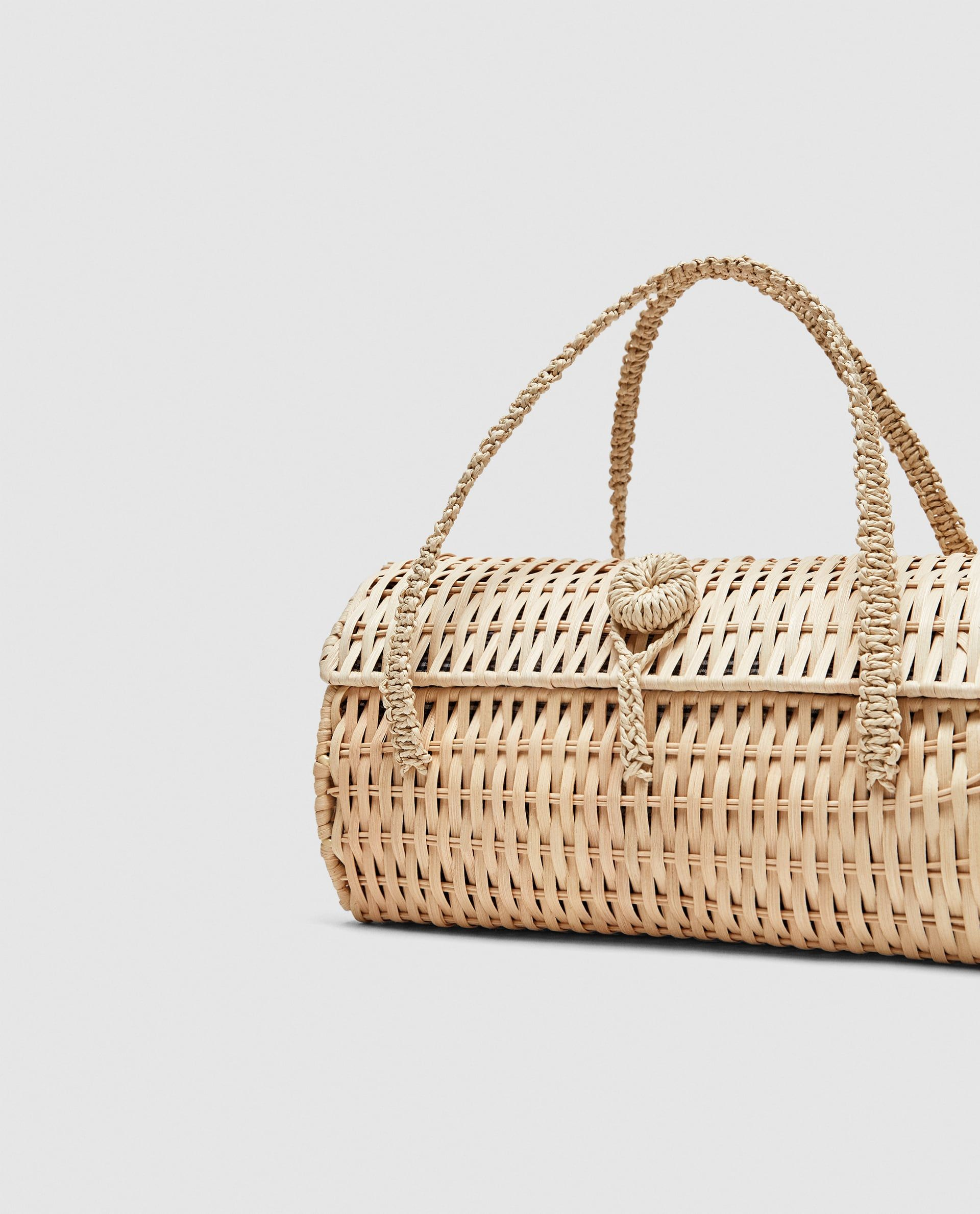 Image 4 Of Wicker Handbag From Zara