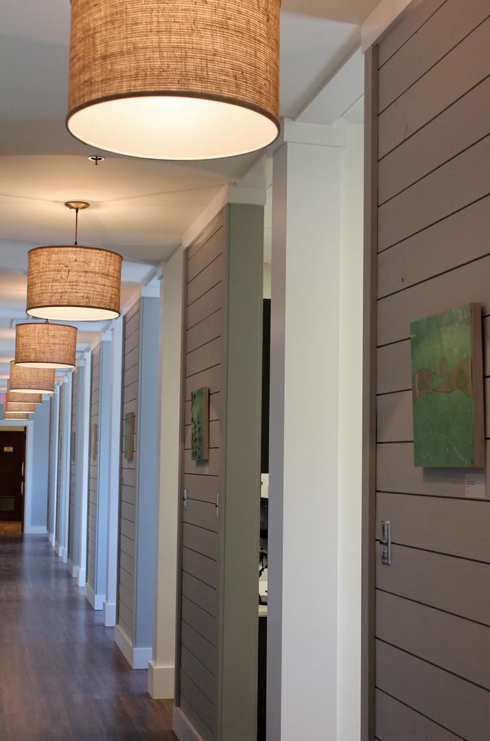 Drum Pendants In Hallway Hallway Lighting Hallway Ceiling Light Fixtures Hallway Light Fixtures