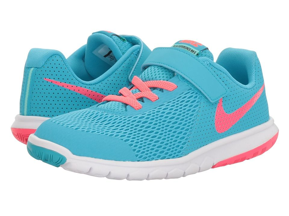 9399b1253a9ec Nike Kids Flex Experience 5 (Little Kid) Girls Shoes Chlorine Blue ...