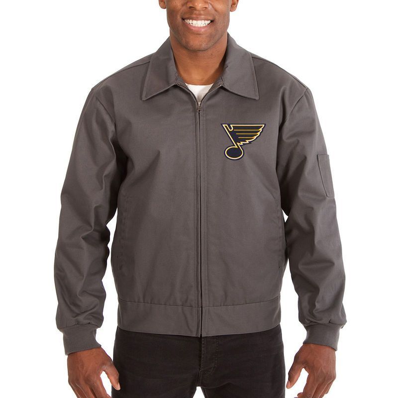 St. Louis Blues JH Design Cotton Twill Workwear Jacket - Charcoal