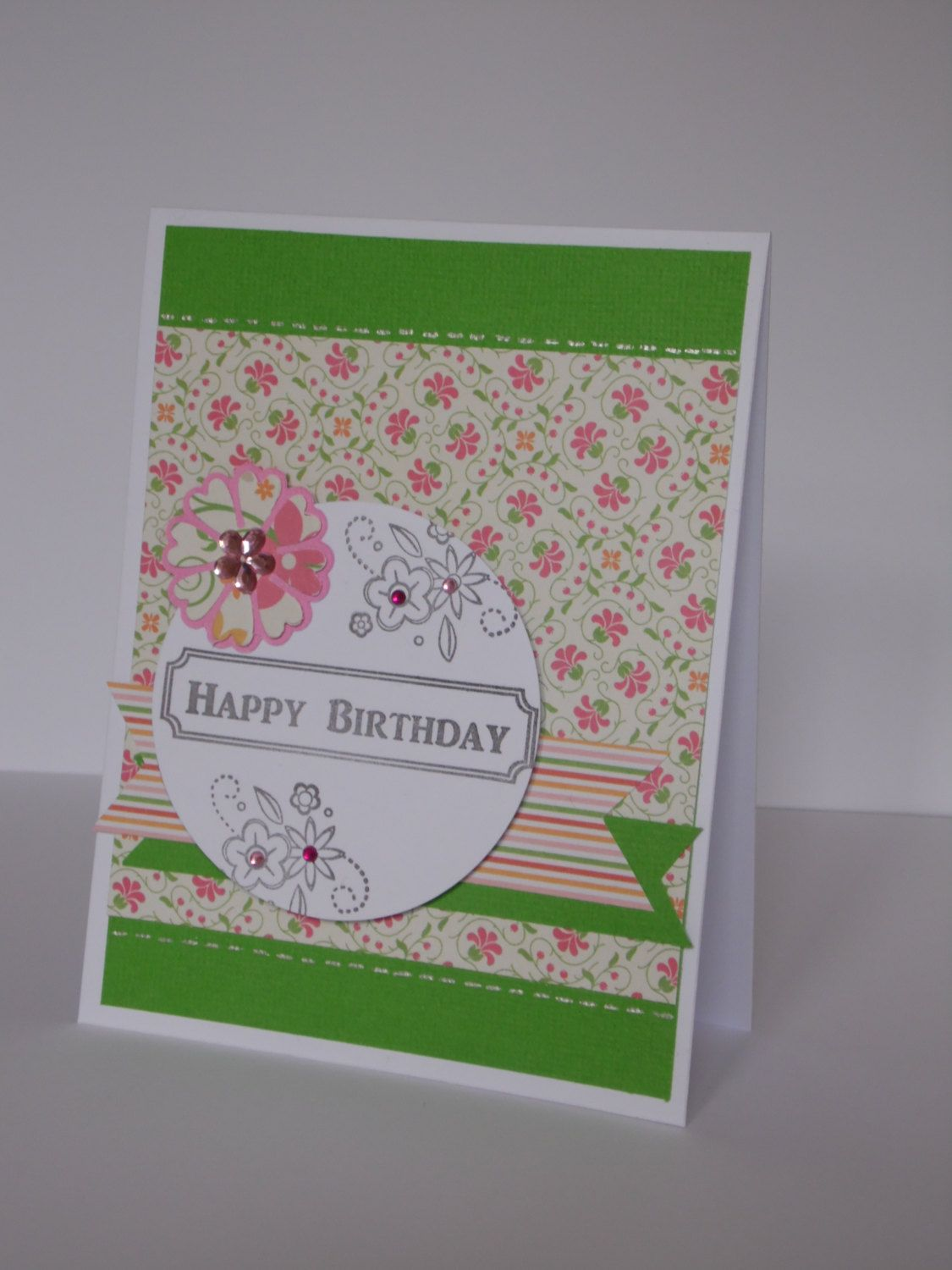 Handmade Birthday card ,simple card, unique card, pretty ...