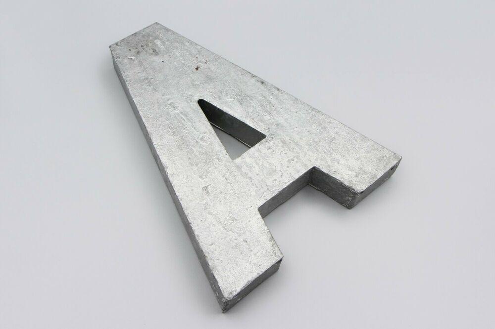 Rustic Metal Letter A Initials Wall Decor Industrial Monogram