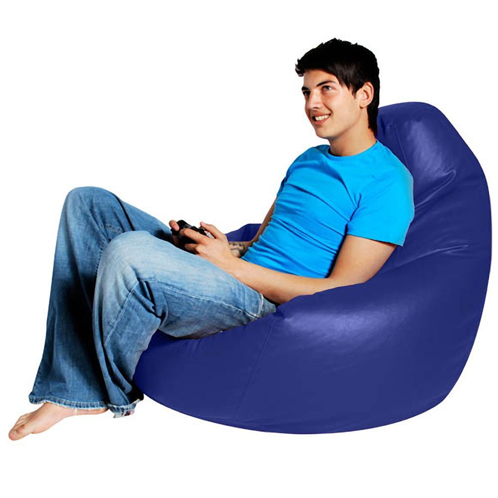 Gaming Bean Bag Recliner Faux Leather Blue Bean Bag Recliner Blue Bean Bags Bean Bag Chair