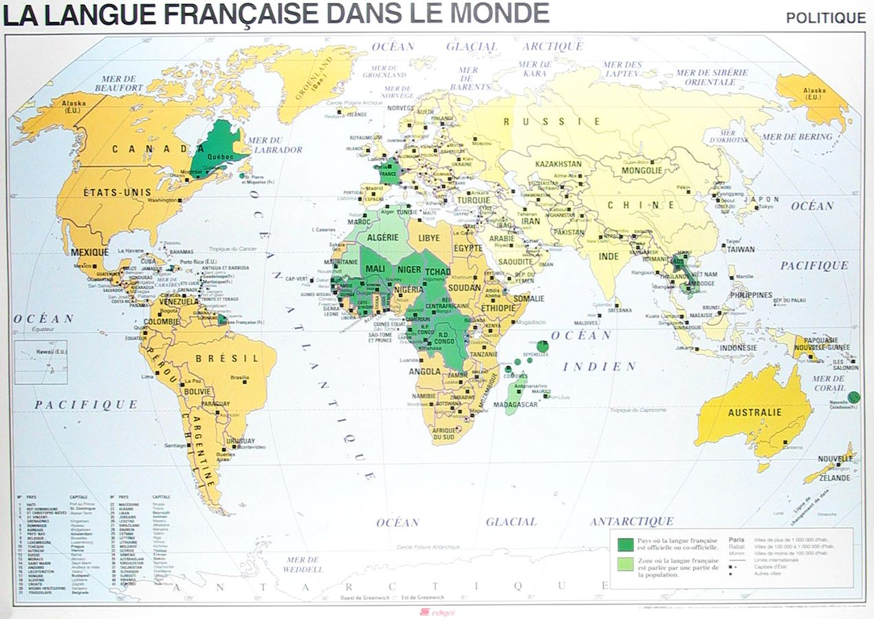 World map showing french speaking countries parlez vous francais world map showing french speaking countries gumiabroncs Choice Image
