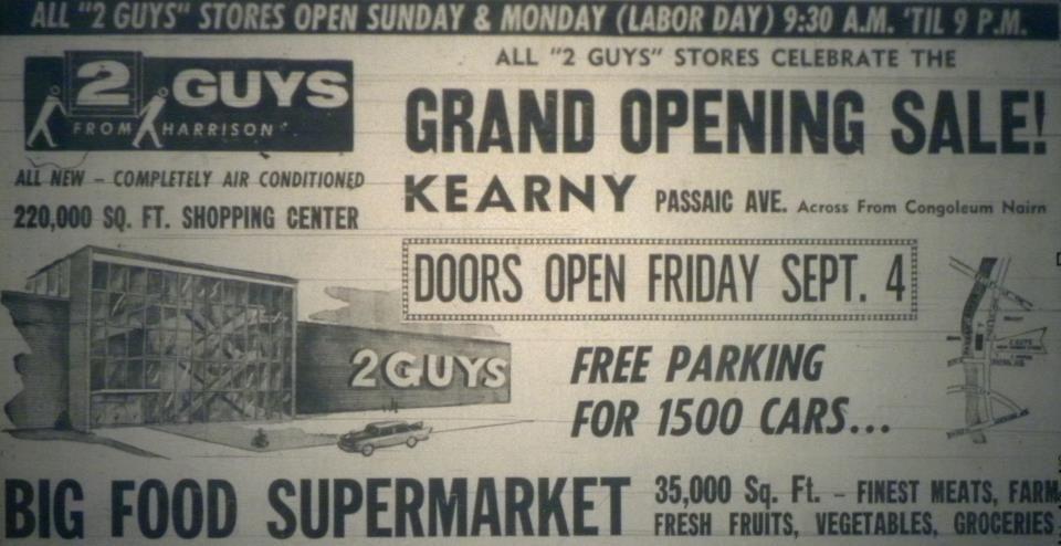 Two Guys Department Store In Kearny Nj Kearny Jersey Girl Jersey City