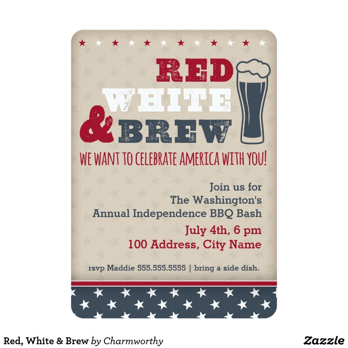 Red, White & Brew Invitation   Zazzle com   { Happy Holidays