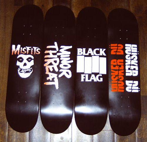 207114cb misfits, minor threat, black flag, and husker du skateboards | Stuff ...