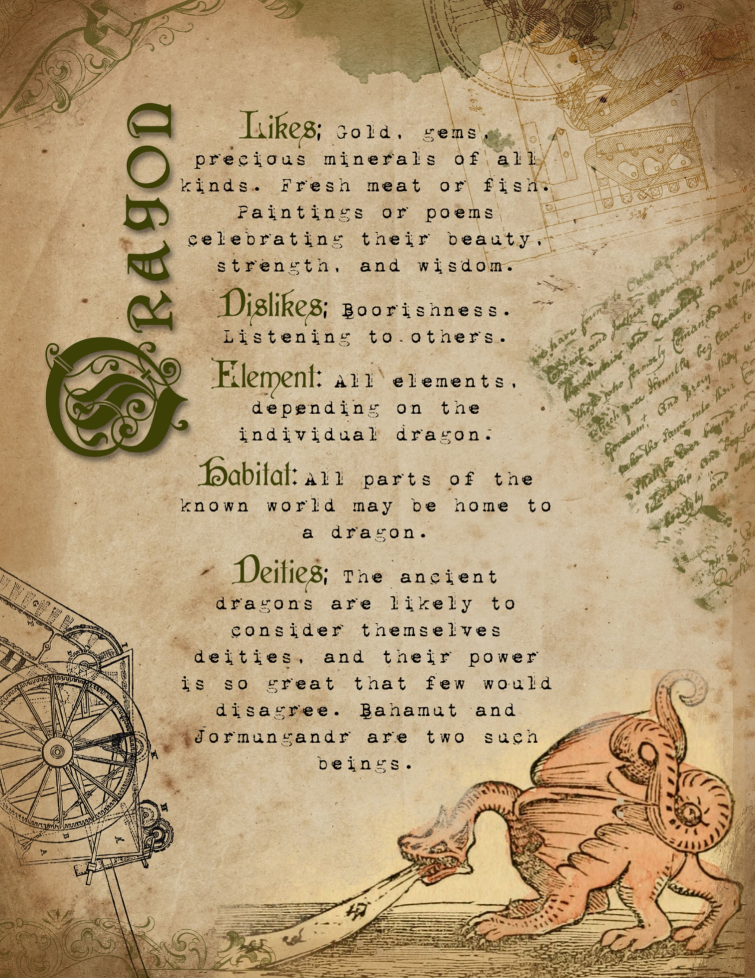 Beastiary Book Of Shadows Pages Vol 2 Magical Creatures Etsy In 2020 Book Of Shadows Wiccan Spell Book Spell Book