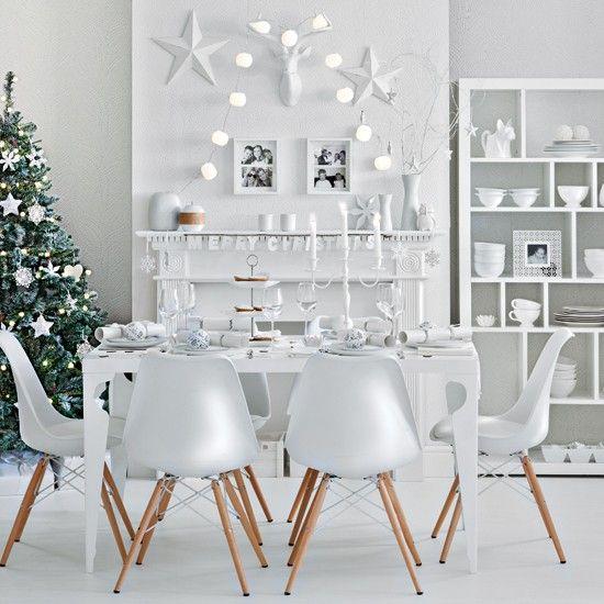 Winter White Festive Dining Room