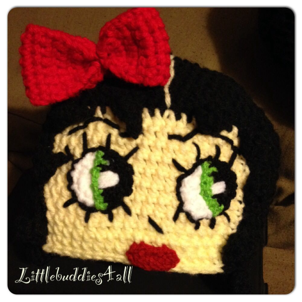 Crochet Betty Boop beanie Facebook/littlebuddies4all.com | Crafts ...