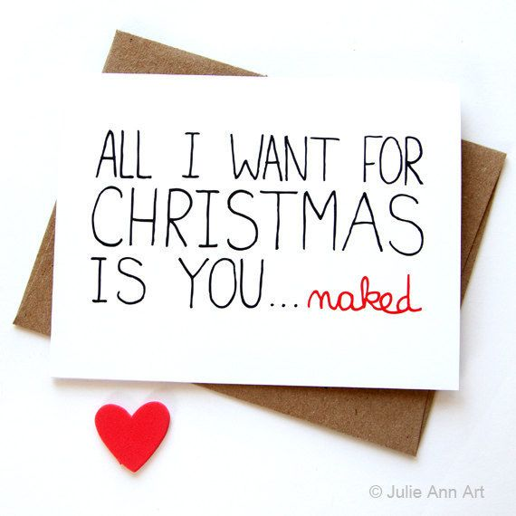 Pin by beverly neal broadway on messagesquotes 4 him pinterest sexy christmas card funny christmas card all i want for christmas is you naked on etsy m4hsunfo