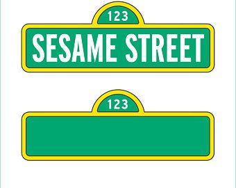 Sesame Street Sign And Blank Sign Only Svg Dxf Eps Png Pdf Cricut Explorer Silhouette Cameo Sesame Street Signs Sesame Street Street Banners