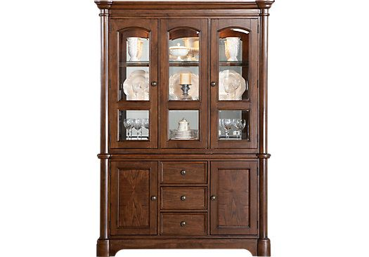 Shop For A Walnut Place 2 Pc China Cabinet At Rooms To Go Find