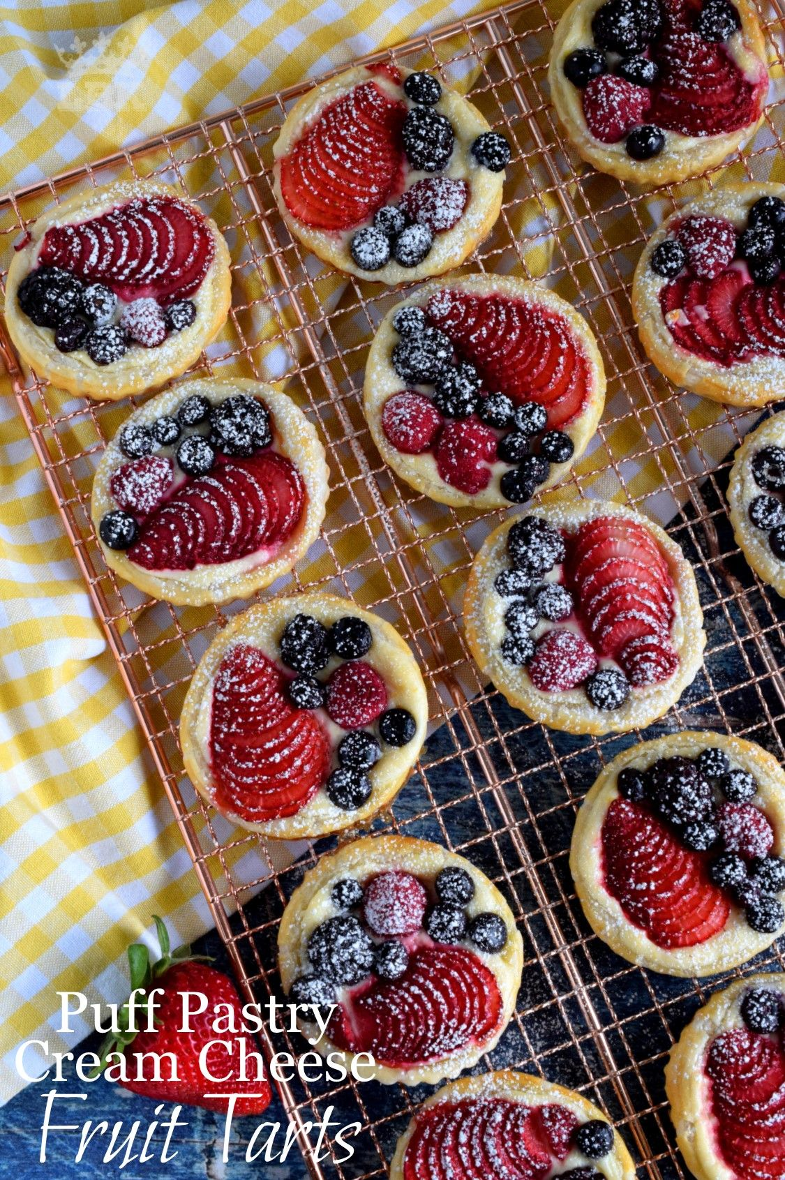 Puff Pastry Cream Cheese Fruit Tarts - Lord Byron's Kitchen