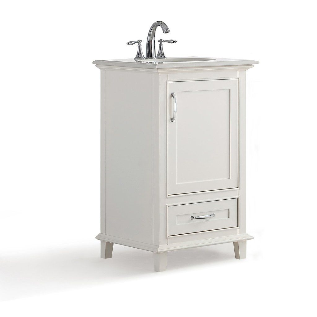 Ariana 20 Inch Bath Vanity With Bombay White Engineered Quartz