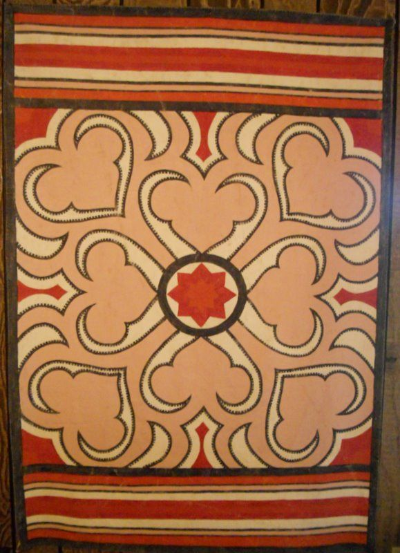 Mid East Modern Hand Painted Rug Wall Hanging Painted Rug Rug Wall Hanging Hand Painted