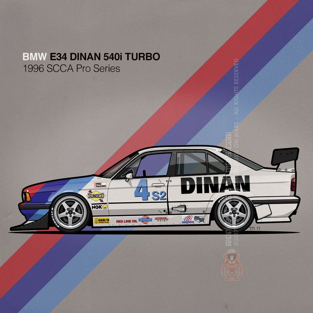 Garage Peugeot Dinan Bmw E34 540i Turbo Dinan Scca Pro Series Touring Car Carart