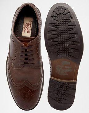 Leather brogues, Shoes, Dress shoes men