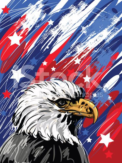 self illustrated patriotic background all elements are in separate