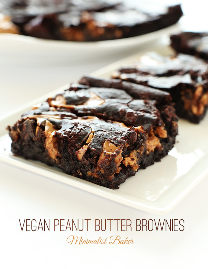 Vegan Peanut Butter Swirl Brownies Minimalist Baker Recipes Recipe Peanut Butter Swirl Brownies Vegan Peanut Butter Vegan Dessert Recipes
