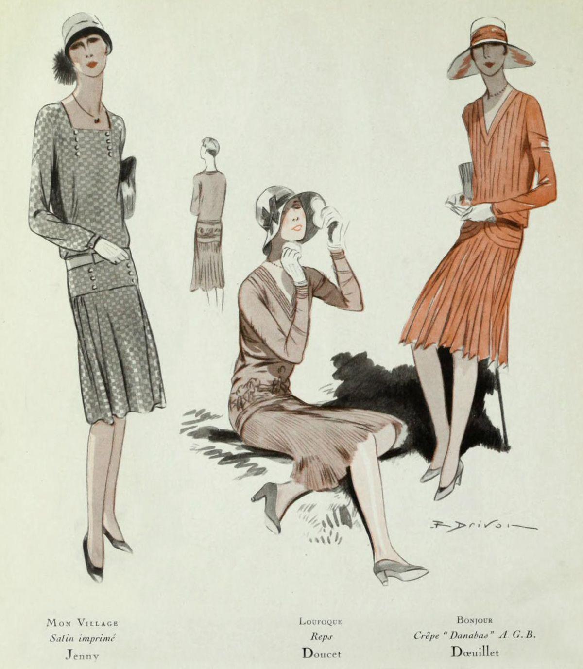 1920s Fashion - Paris 1928 - Jenny, Doucet and Doeuillet