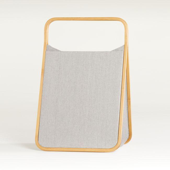 Bamboo Floor Hamper | Crate and Barrel