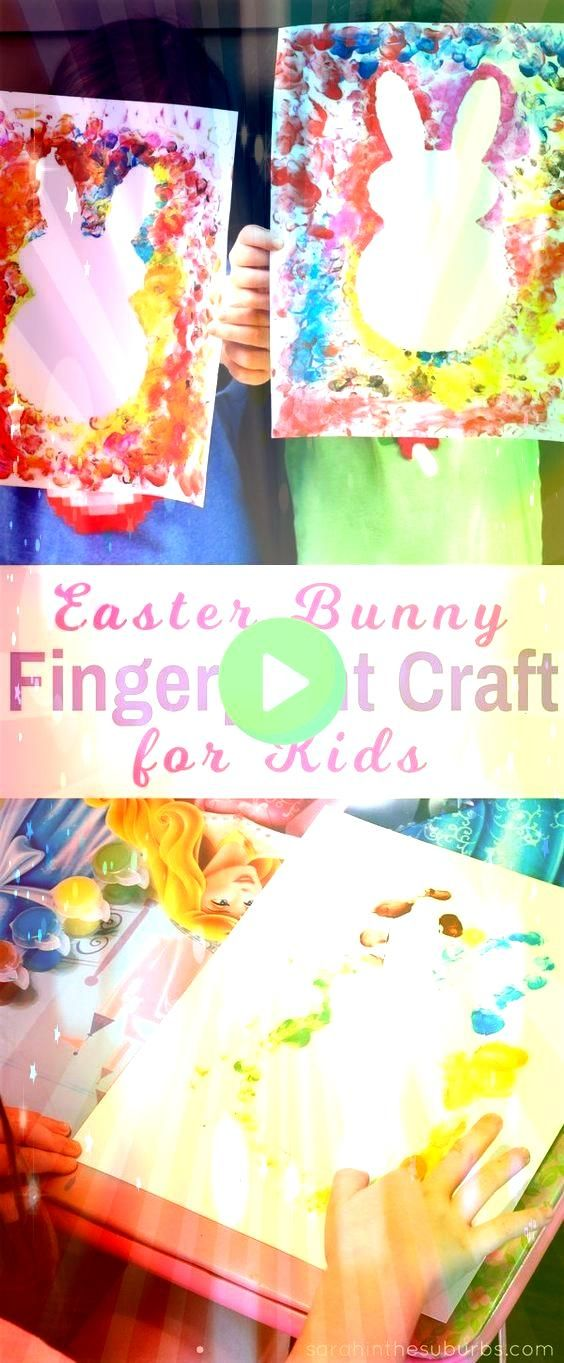 bunnies are so cute and perfect for the spring season Let your kids make their own Easter bunny fingerprint craft with this easy DIY tutorialEaster bunnies are so cute an...