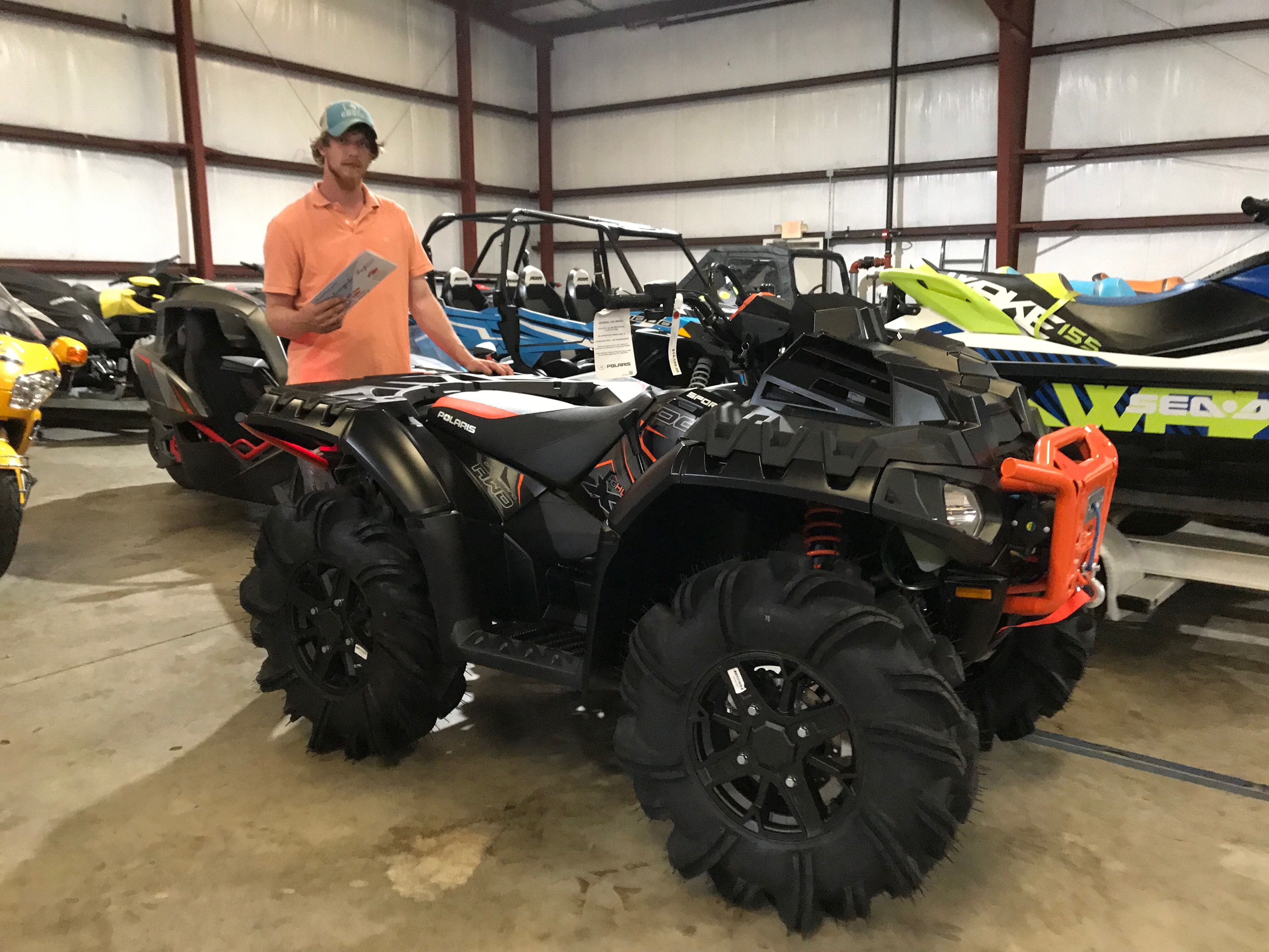 official photos fe0cb 031e5 Congratulations to Dustin Spruiell from Brandon, MS for purchasing a 2019  Polaris Sportsman XP 1000 High Lifter Edition at Hattiesburg Cycles.   polaris