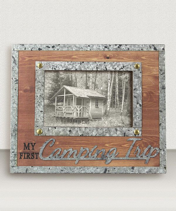 Look at this 'My First Camping Trip' Frame on #zulily today!