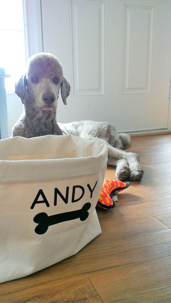 Dog Toy Storage Bin #pup #dog #pets