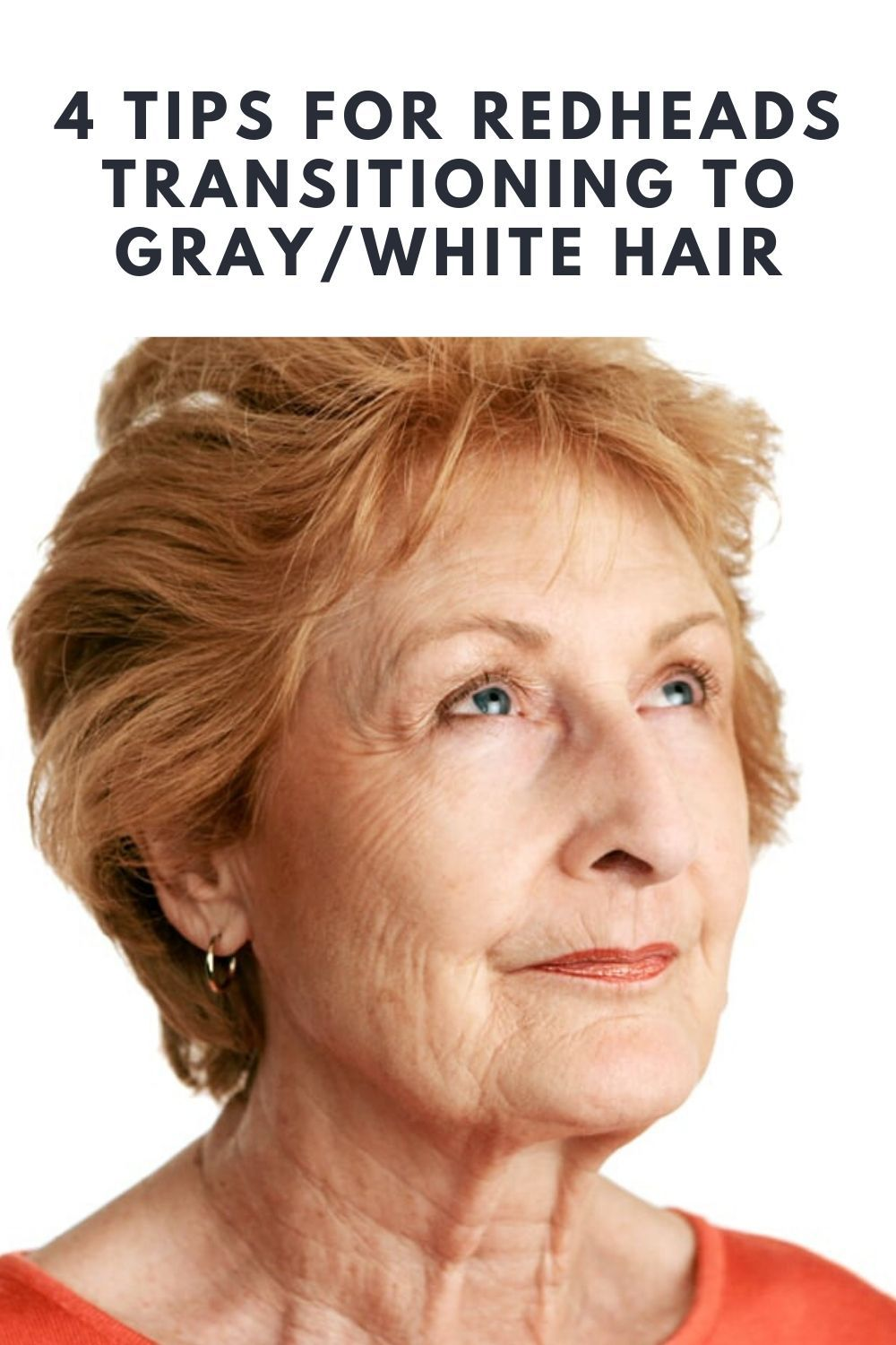 4 Tips For Redheads Transitioning To Gray White Hair In 2020 Grey White Hair Red Hair To Grey Hair Turning White