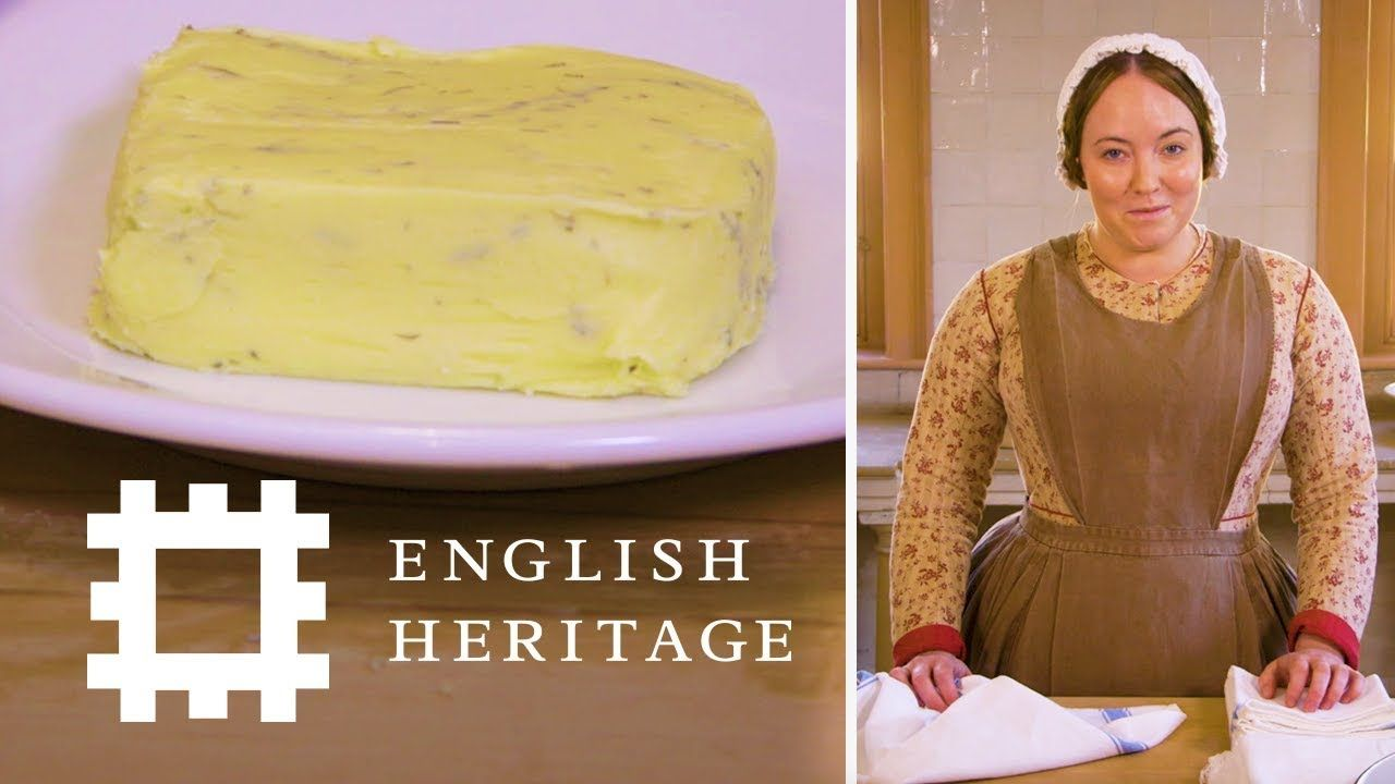 How To Make Butter The Victorian Way Youtube Victorian Recipes Making Butter Victorian Cakes