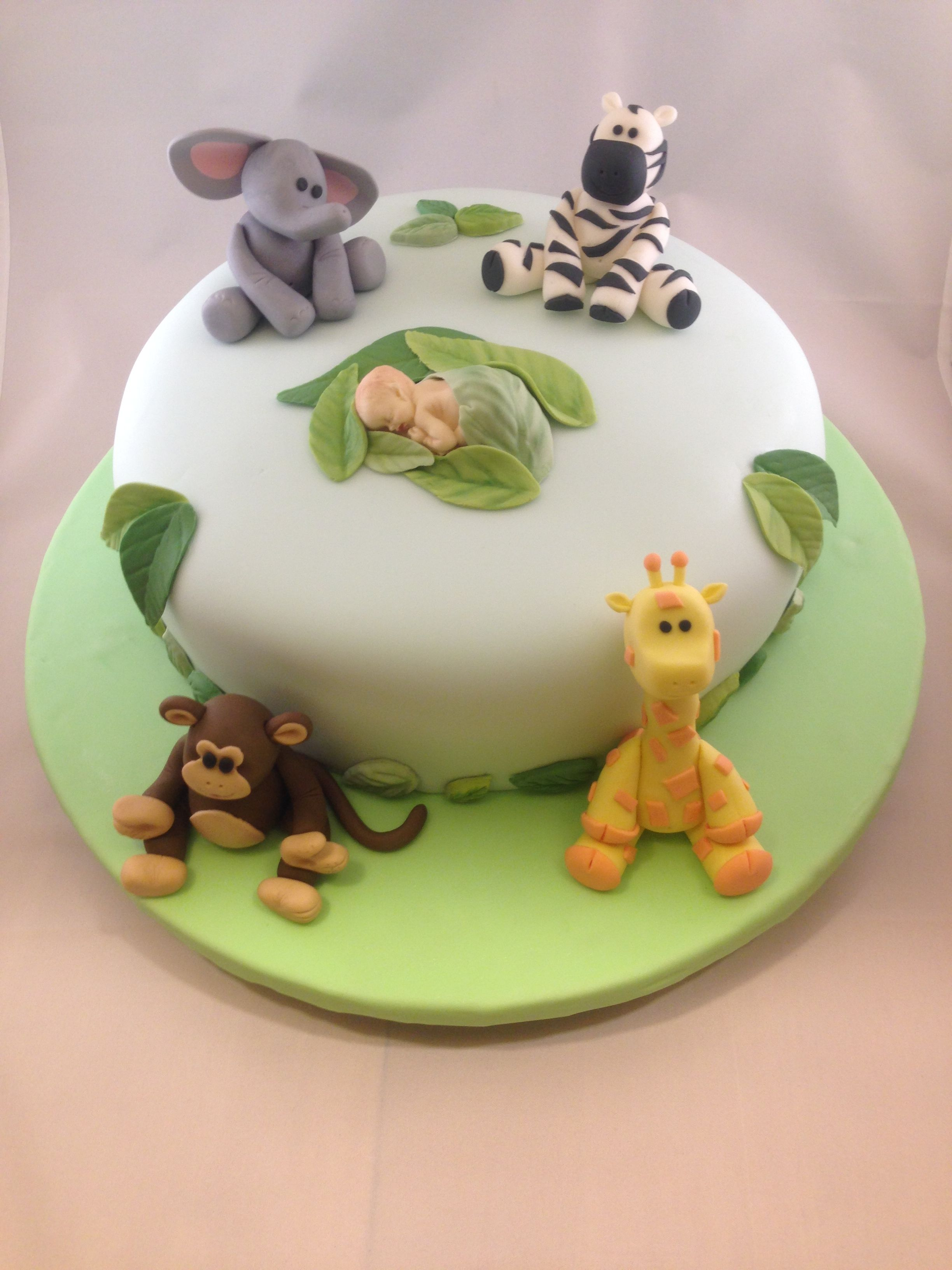 Baby Shower Cakes Jungle Animals ~ Animal safari baby shower cake if is a boy