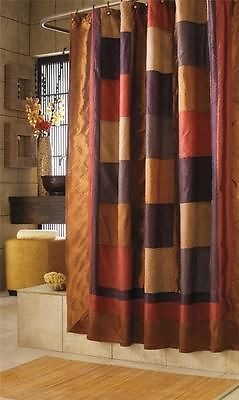 Tuscan Polyester Bathroom Fabric Shower Curtain Accessories Quilt Pattern Sheen Ebay Stall Size Shower Curtain Clawfoot Tub Shower Curtain