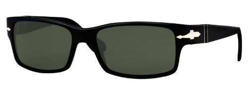 6ae2c9f9bf515 Persol PO2803S 95 58 Black Sunglasses with Green Polarized Lenses 55mm  2803S 95 58 55 Persol.  157.00