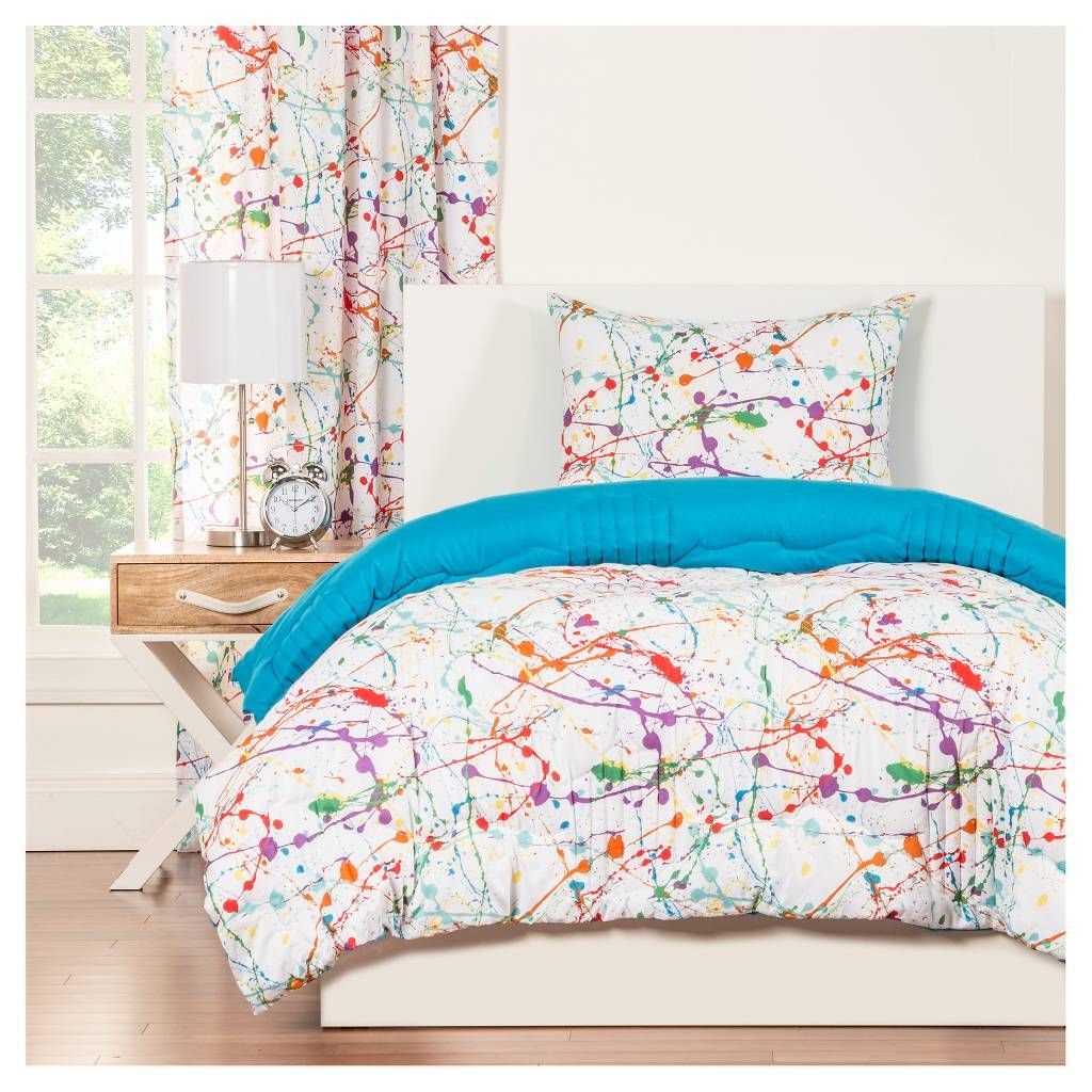 Crayola Splat Comforter Set Image 1 Of 3 Comforter Sets