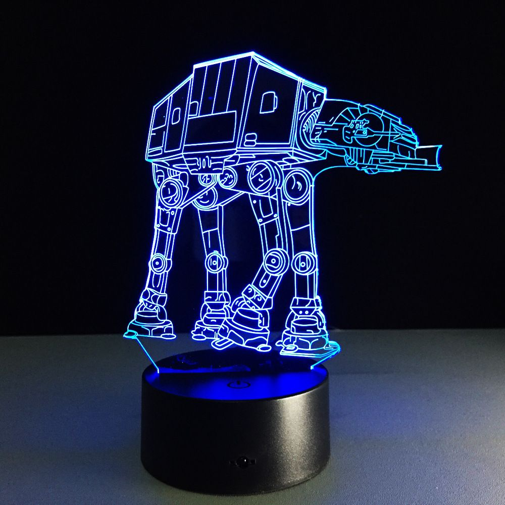 Creative Gifts Star Wars Lamp 3d Night Light Transporting Dogs Usb