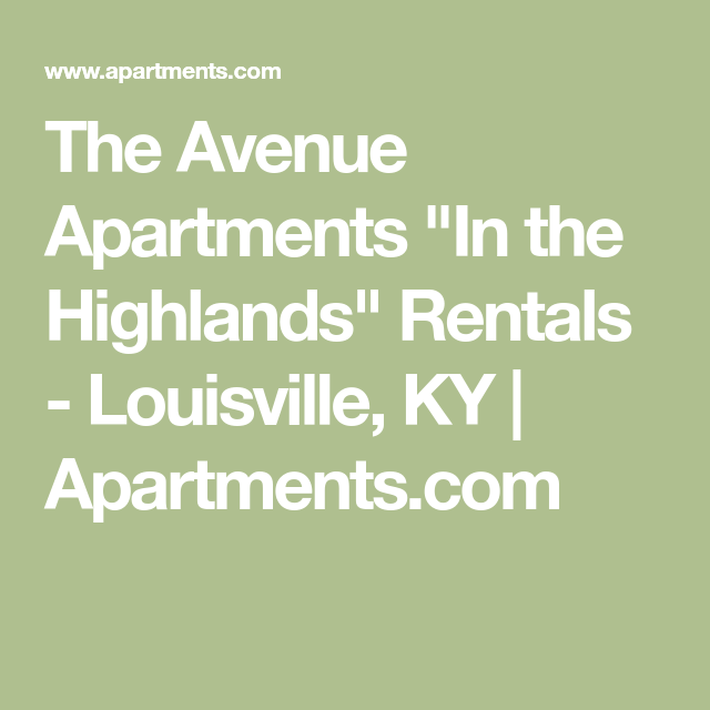 The Avenue Apartments Apartments
