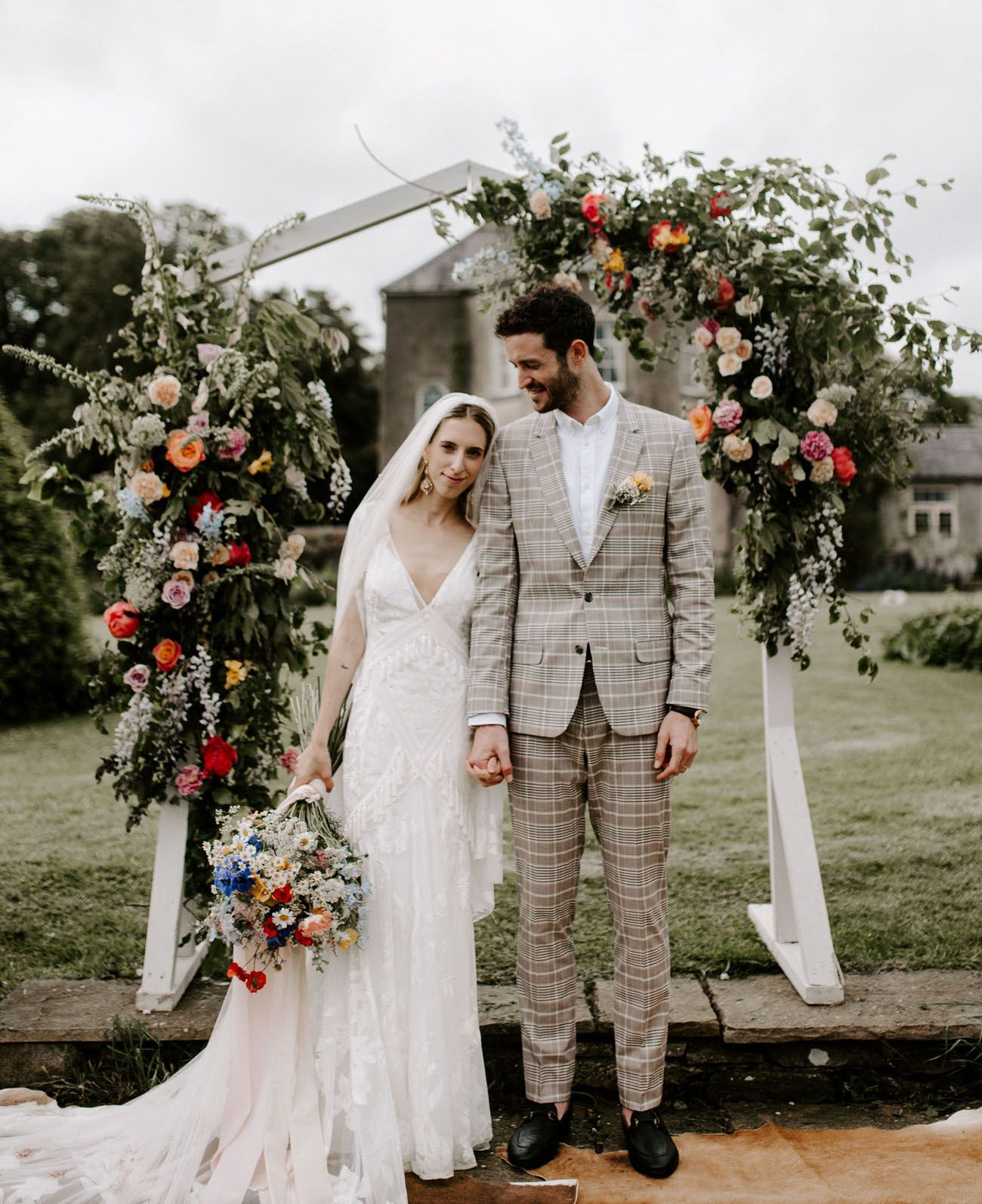 A Colorful + Intimate Wildflower-Inspired Wedding In An