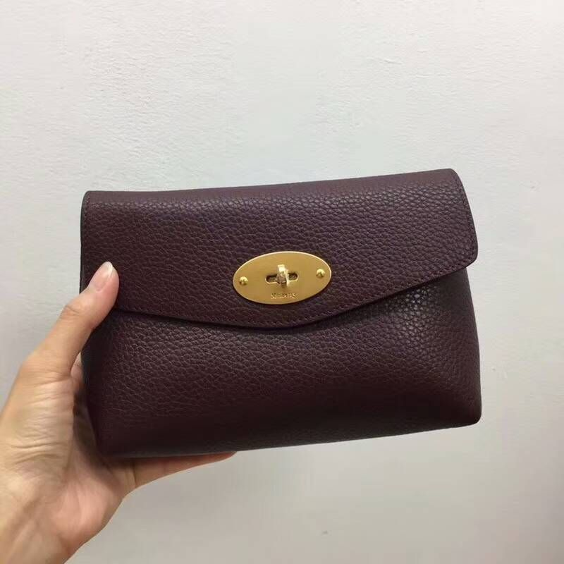 f0aed66d5d85 2018 Cheap Mulberry Darley Cosmetic Pouch oxblood Grain Leather ...