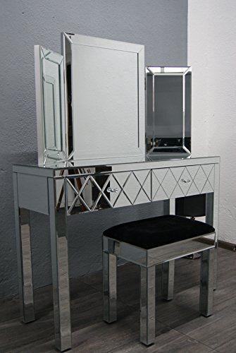 Verspiegelter Nachttisch / Schminktisch Mit Spiegel Von My Furniture